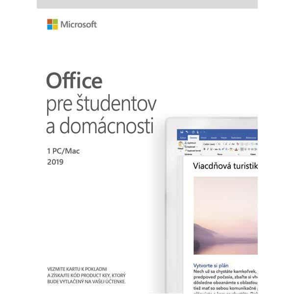 Microsoft 2019 pro studenty a domácnosti-12 měsíců