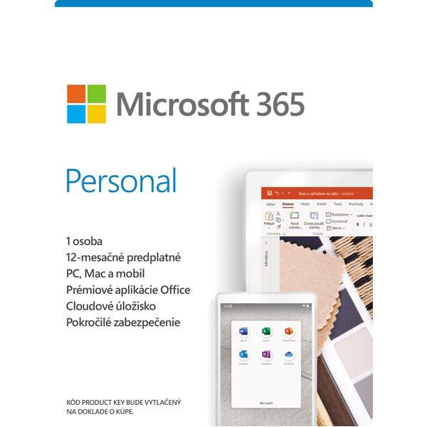 Microsoft 365 Personal - 12 měsíců (32-bit/x64 SK)