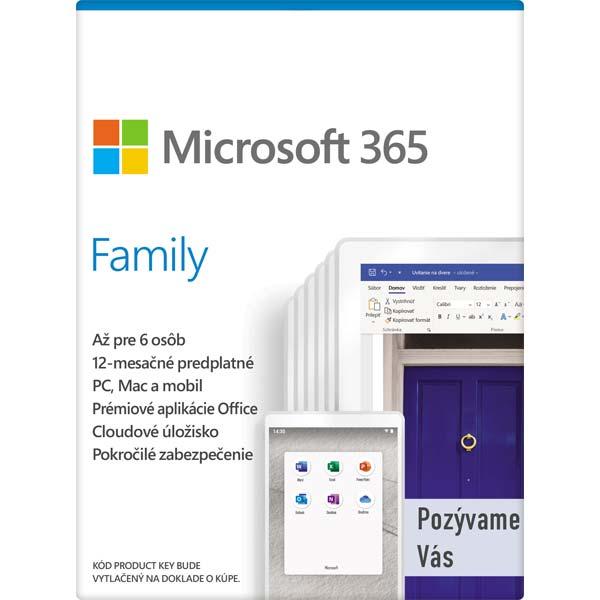 Microsoft 365 pro rodiny-12 měsíců