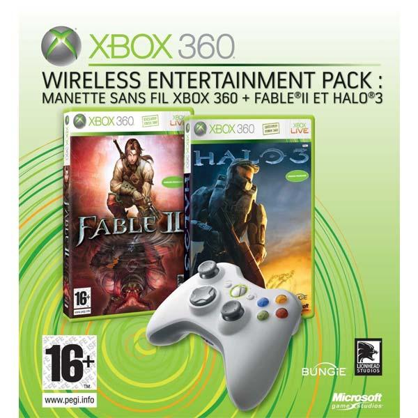 Wireless Entertainment Pack (bezdrátový gamepad + 2 hry)