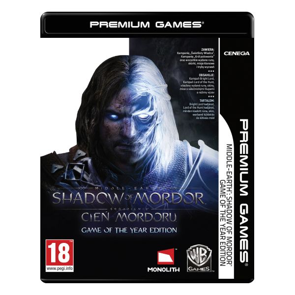 Middle-Earth: Shadow of Mordor (Game of the Year Edition) PC CD-key