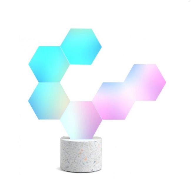 Modulárne smart osvetlenie Cololight Pro s kamennou základňou, 6 modulov