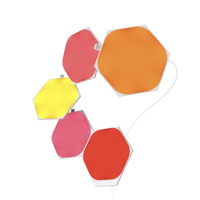 Modulární smart osvětlení Nanoleaf Shapes Hexagons Starter Kit Mini, 5 panelů