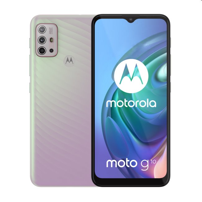 Motorola Moto G10, 4/64GB, Iridescent Pearl - SK distribúcia
