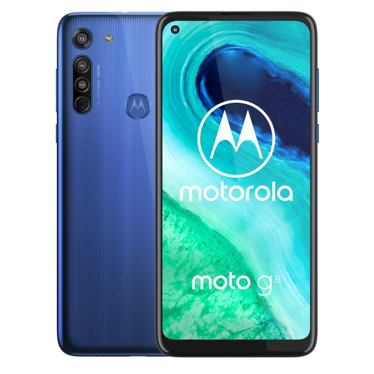 Motorola Moto G8, Dual SIM, Neon Blue-CS distribuce