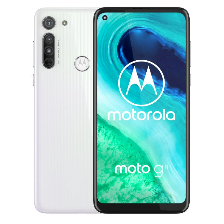 Motorola Moto G8, Dual SIM, Pearl White-CS distribuce