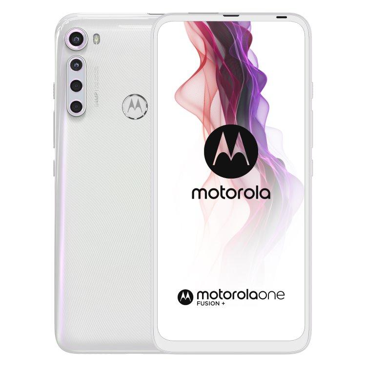 Motorola One Fusion +, 6/128GB, Dual SIM, Moonlig White-CS distribuce