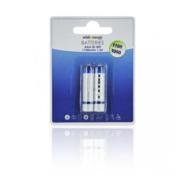 Nabíjecí mikrotužková baterie AAA, White Energy 1100 mAh Ni-MH, 2 kusy