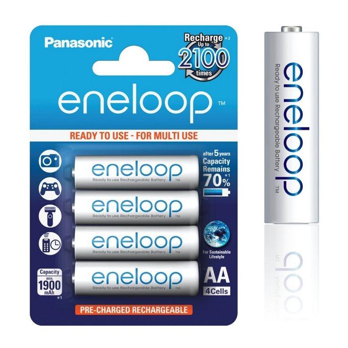 Nabíjecí tužková baterie AA, Panasonic Eneloop NiMh 1,2V 1900mAh 2100C, 4 kusy