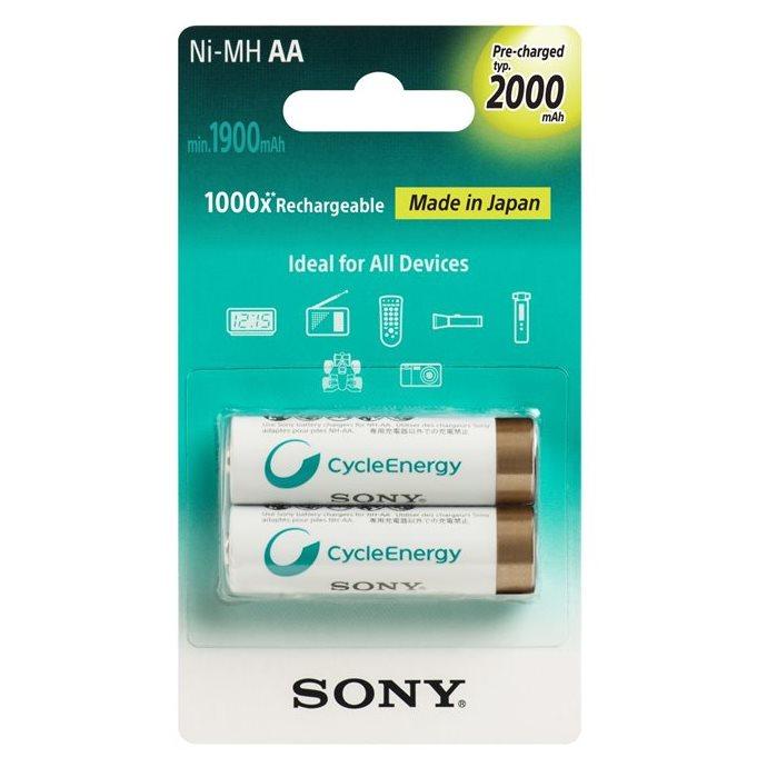 Nabíjecí tužková baterie AA, Sony NiMH 2000mAh, 2 kusy