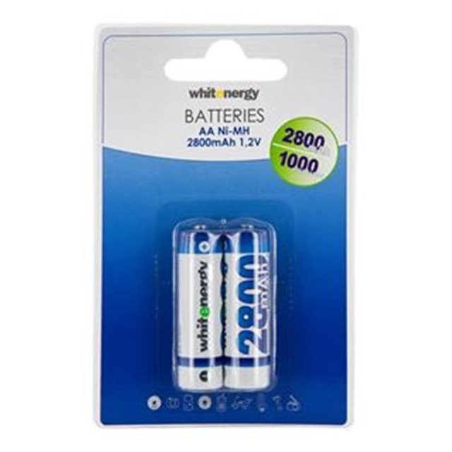 Nabíjecí tužková baterie AA, White Energy 2800mAh Ni-MH, 2 kusy