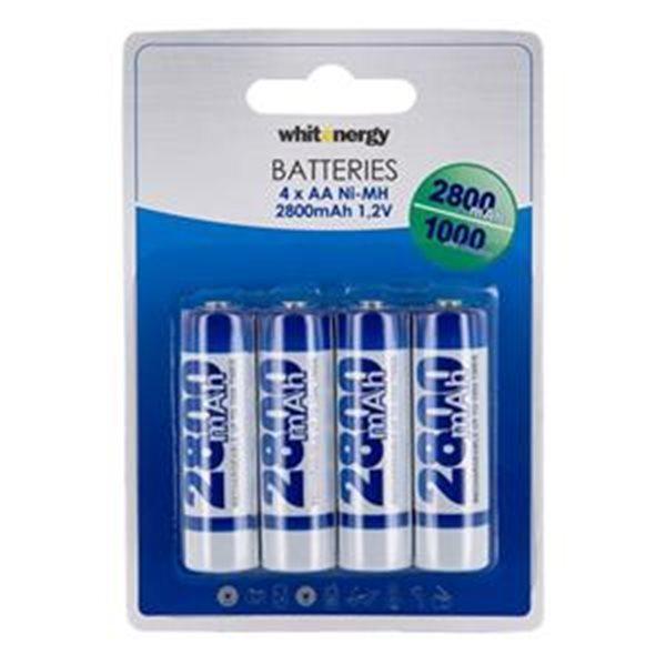 Nabíjecí tužková baterie AA, White Energy 2800mAh Ni-MH, 4 kusy