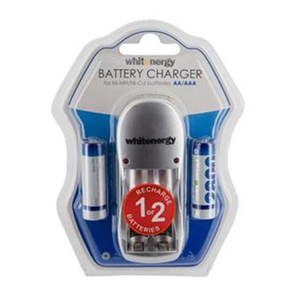 Nabíječka baterií, White Energy pro 2 x AA/AAA baterie + 2x AA 2800 mAh
