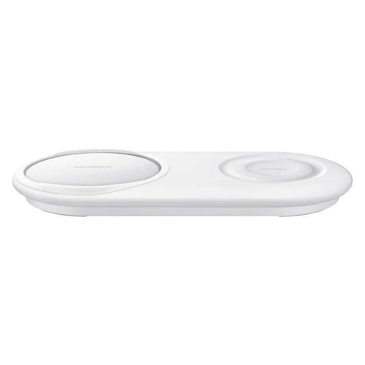 Nabíječka bezdrátová Samsung Duo EP-P5200TW Fast Charge pro Samsung Galaxy S10 Plus/S10/S10e, White