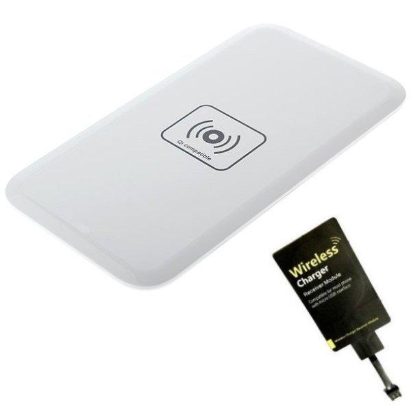 Nabíječka bezdrátová + ultratenký nabíjecí modul BestCharger pro mobily Nokia a HTC, White