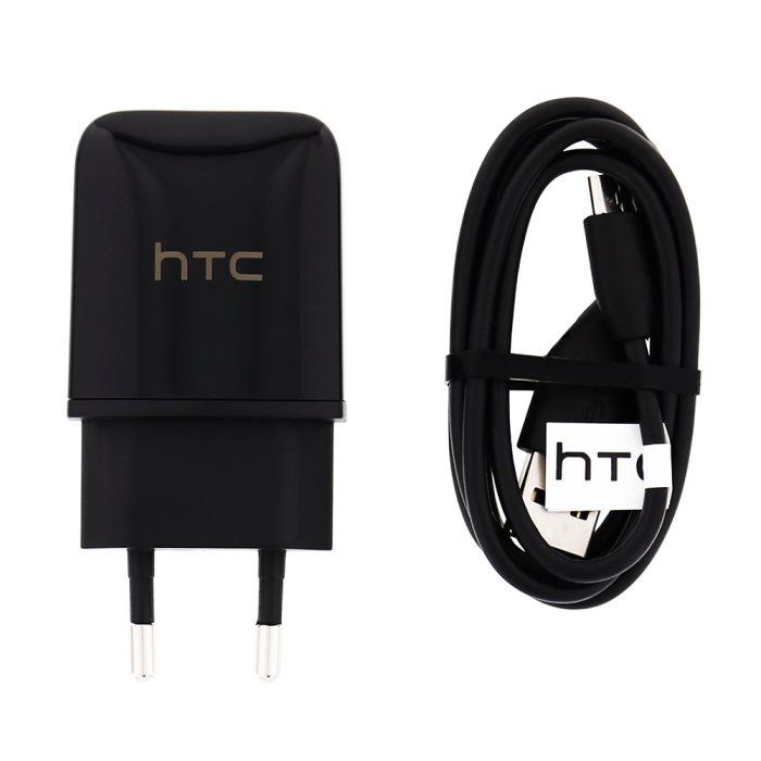 Nabíječka HTC TC P900 + kabel DC M410 microUSB, Black