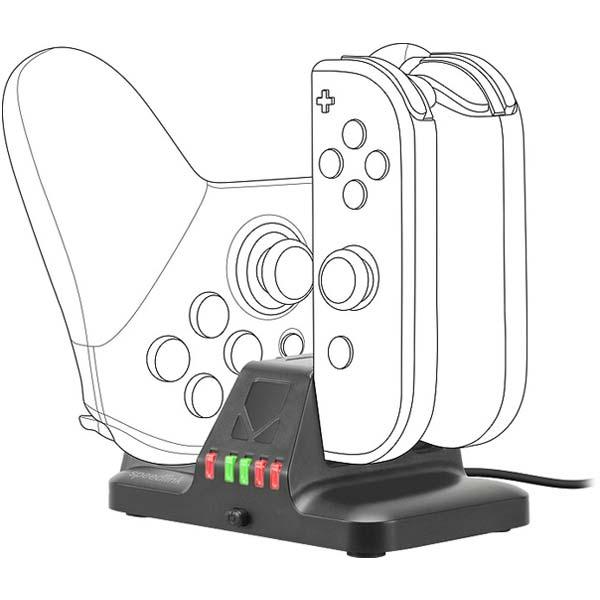 Nabíječka Speedlink Quad Multi-Charger pro Nintendo Switch