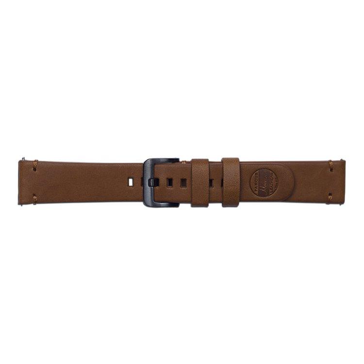 Náhradní kožený řemínek Samsung Braloba Essex GP-R815B (20mm) pro Samsung Galaxy Watch SM-R810, Brown