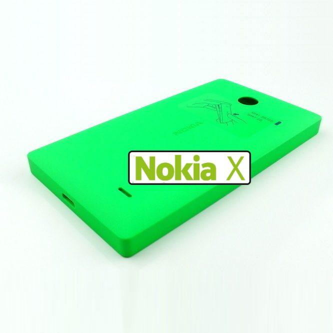 Náhradní kryt Nokia CC-3080 pro Nokia X a Nokia X, Green