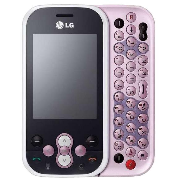 Náhradní kryt pro mobil LG KS 360 White-Pink
