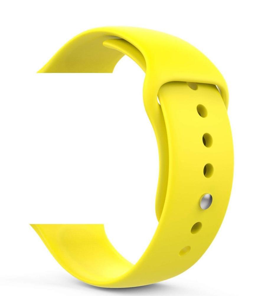 Náhradní řemínek pro Apple Watch Series 2/3/4, 42/44mm, yellow