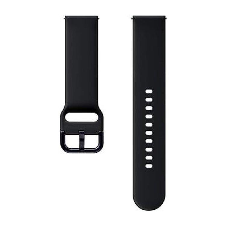 Náhradní silikonový řemínek Samsung ET-SFR82M (20mm) pro Samsung Galaxy Watch Active 2, Aqua Black