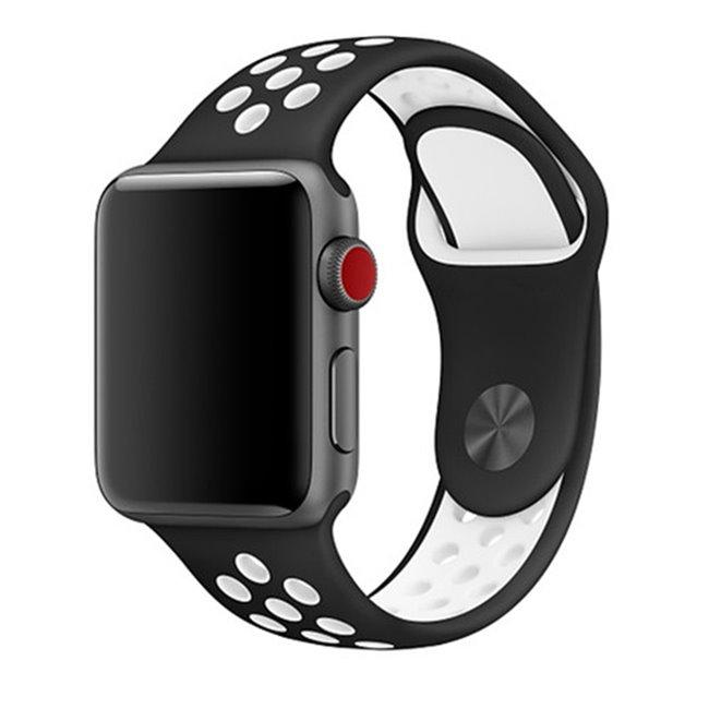 Náhradní sportovní řemínek pro Apple Watch 42/44mm, black/white