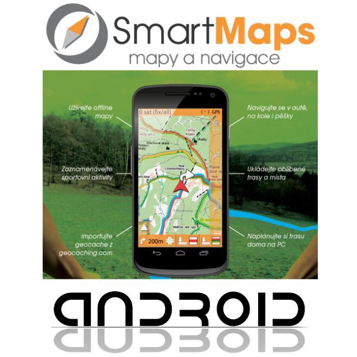 Navigace pro Android-Smart Maps Navigator-auto, cyklo a turistická mapa Slovenska a Česka