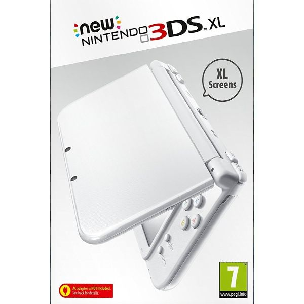 New Nintendo 3DS XL, pearl white
