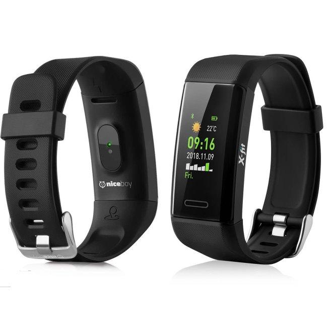 NiceBoy X-Fit s GPS-fitness náramek, Black