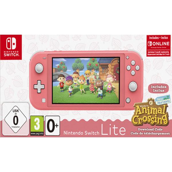 Nintendo Switch Lite, coral + Animal Crossing: New Horizons + trojmesačné predplatné služby Nintendo Switch Online