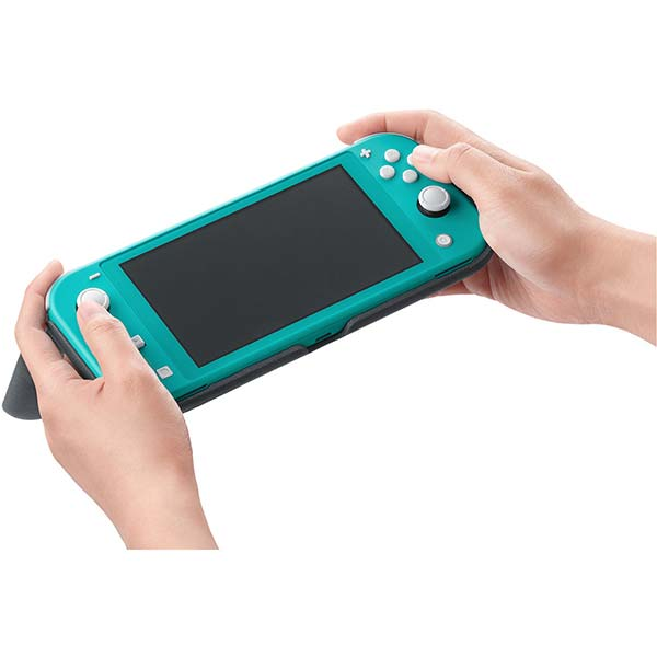 Nintendo Switch Lite překlápěcí pouzdro a ochranná fólie, šedé