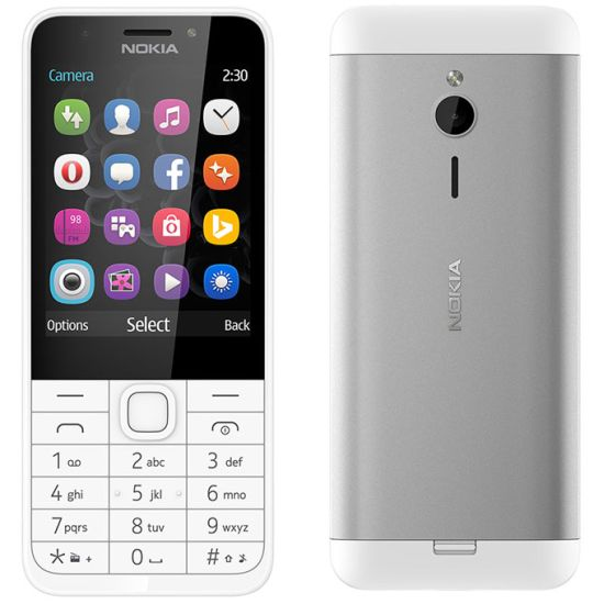 Nokia 230, Dual SIM, Silver - CZ distribuce