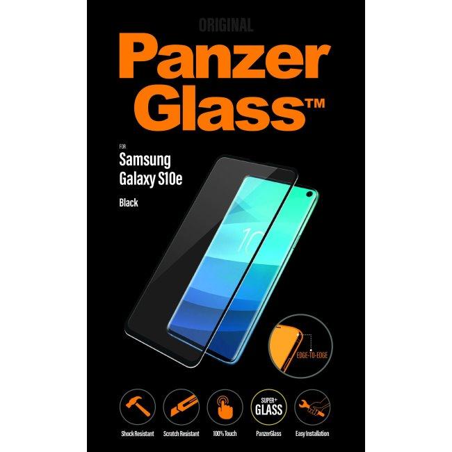 Ochranné sklo PanzerGlass na celý displej pro Samsung Galaxy S10e-G970F, černé