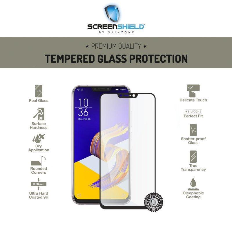 Ochranné sklo Screenshield 3D pro Asus ZenFone 5Z-ZS620KL-Full Cover Black-Doživotní záruka