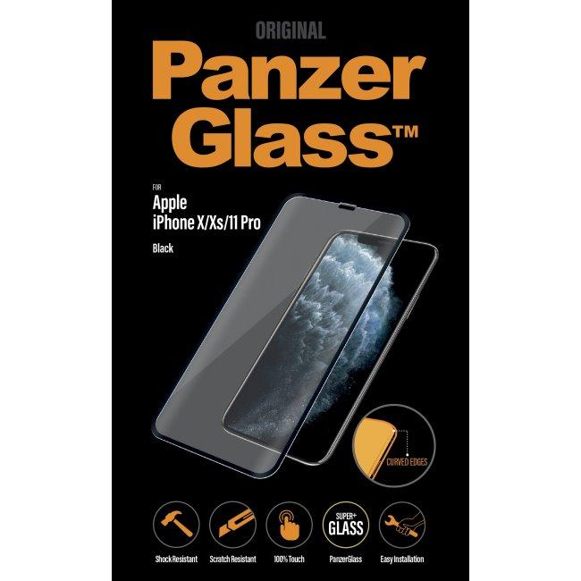 Ochranné temperované sklo PanzerGlass Case Friendly pro Apple iPhone 11 Pro/Xs/X, černé