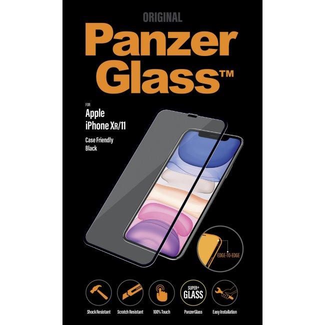 Ochranné temperované sklo PanzerGlass Case Friendly pro Apple iPhone 11/XR, černé