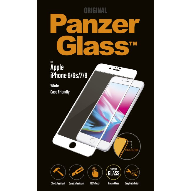 Ochranné temperované sklo PanzerGlass Case Friendly pro Apple iPhone 6/6S/7/8, bílé
