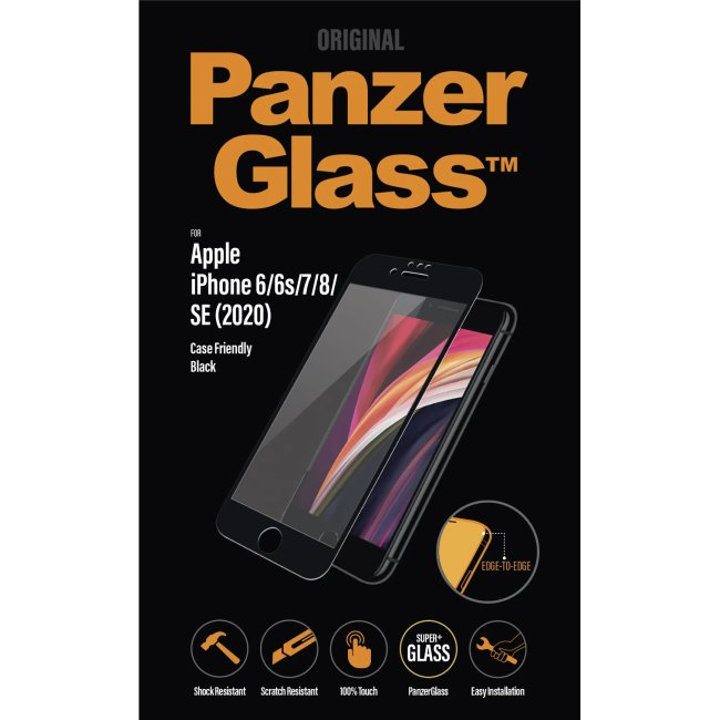 Ochranné temperované sklo PanzerGlass Case Friendly pro Apple iPhone SE a iPhone 8/7/6s/6, černé