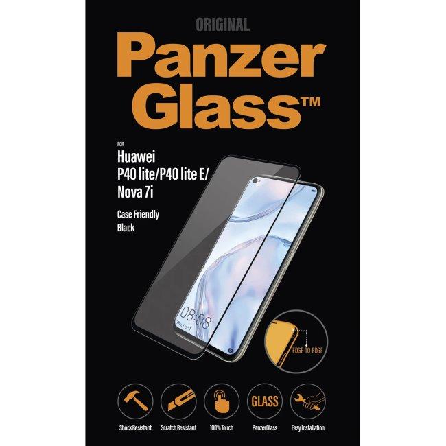 Ochranné temperované sklo PanzerGlass Case Friendly pro Huawei P40 Lite/P40 Lite E/Nova 7i, černé
