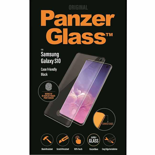 Ochranné temperované sklo PanzerGlass Case Friendly pro Samsung Galaxy S10-G973F, černé