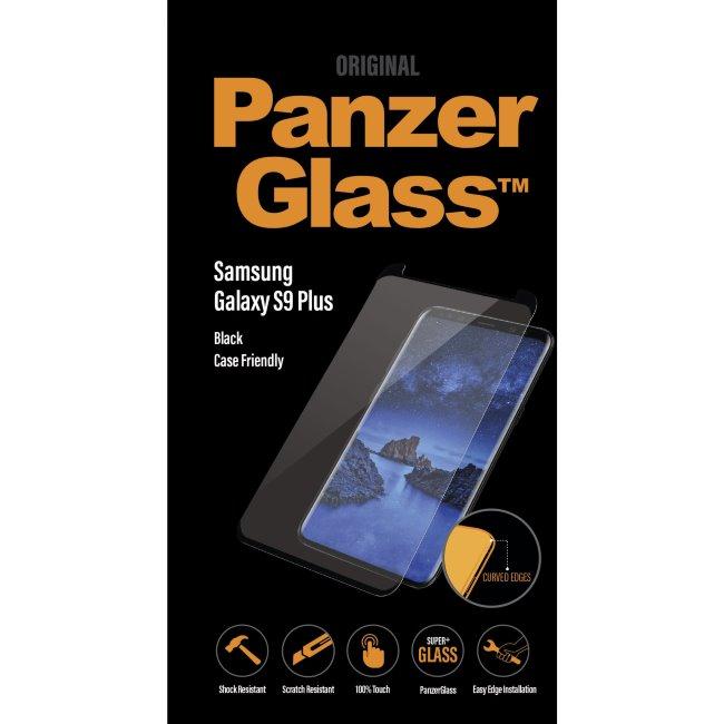 Ochranné temperované sklo PanzerGlass Case Friendly pro Samsung Galaxy S9 Plus-G965F, černé
