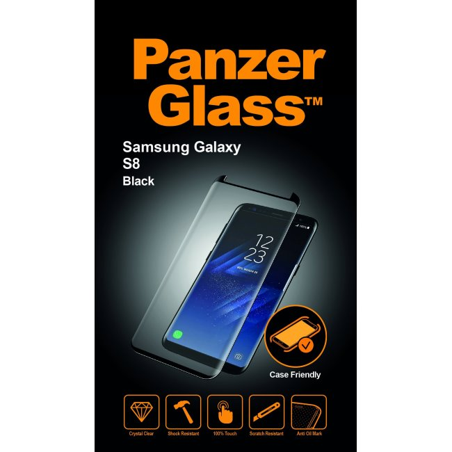 Ochranné temperované sklo PanzerGlass na celý displej pro Samsung Galaxy S8-G950F, černé