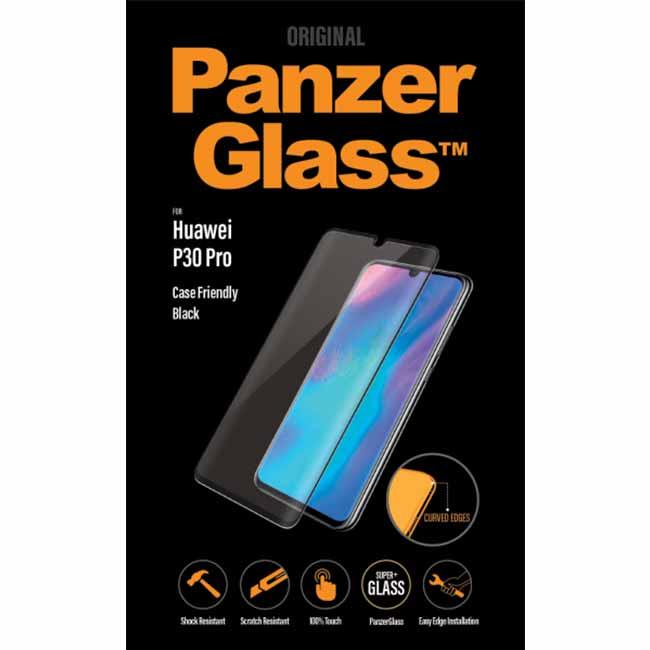 Ochranné temperované sklo PanzerGlass Case Friendly pro Huawei P30 Pro, černé