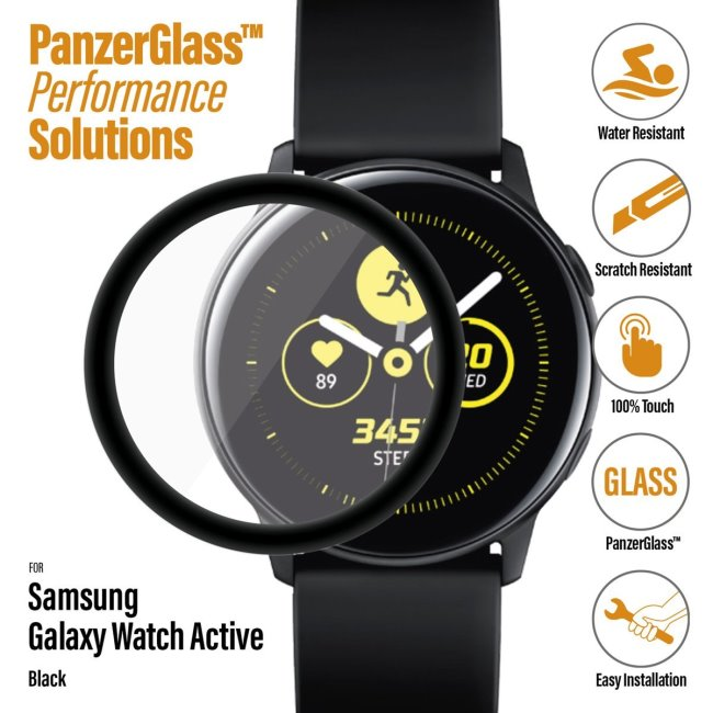 Ochranné temperované sklo PanzerGlass pro Samsung Galaxy Watch Active, black