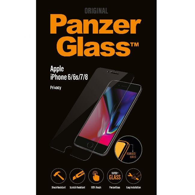 Ochranné temperované sklo PanzerGlass s privátním filtrem pro Apple iPhone 6/6S/7/8
