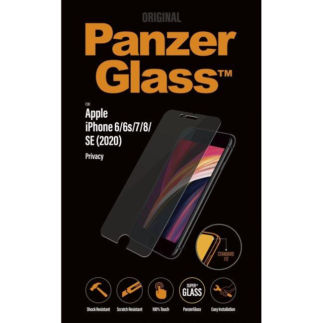Ochranné temperované sklo PanzerGlass s privátním filtrem pro Apple iPhone 6/6s/7/8/SE 202
