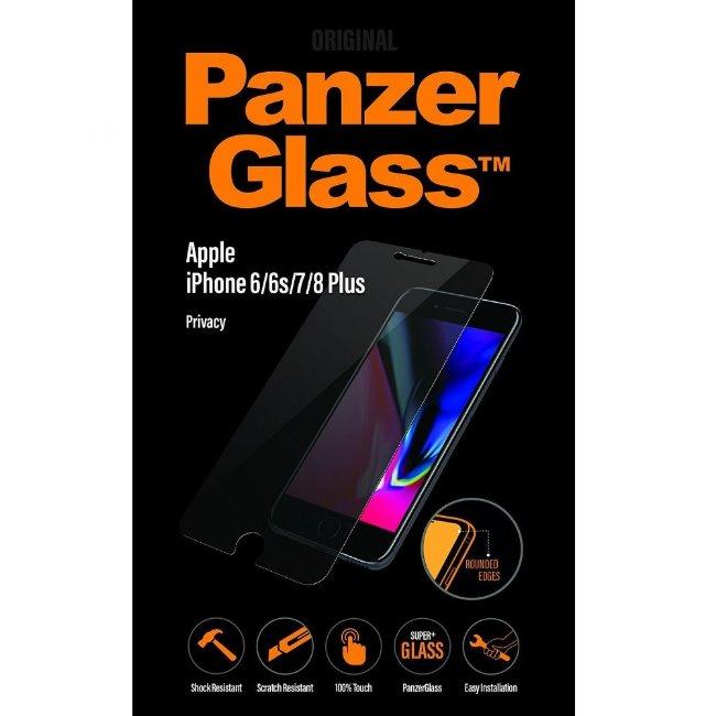 Ochranné temperované sklo PanzerGlass s privátním filtrem pro Apple iPhone 6 Plus/6S Plus/7 Plus/8 Plus