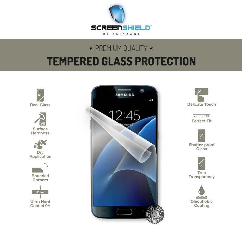 Ochranné temperované sklo ScreenShield pro Samsung Galaxy S7-G930F-Doživotní záruka