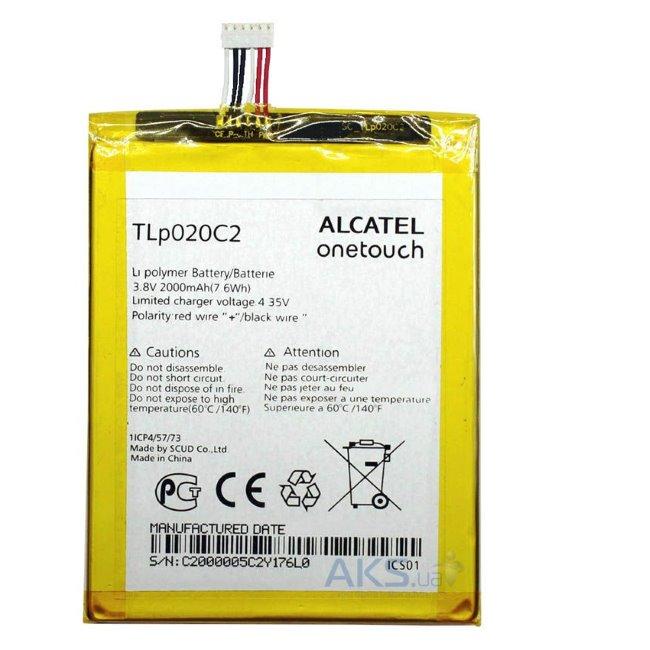 Originální baterie Alcatel TLp020C2, (2000 mAh)